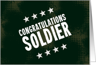 Congratulations Soldier (Promotion Card-Green) card
