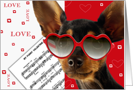 Valentine's Day Card with Funny Dog card