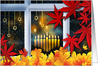 Happy Thanksgivukkah. Hanukkah and Thanksgiving Theme Card