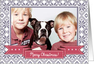 Merry Christmas From Our Home to Yours. Christmas Photo Card