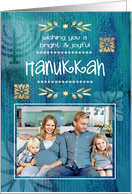 Happy Hanukkah from Our Home to Yours. Custom Photo Card