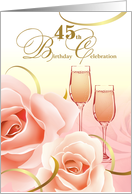 45th Birthday Party Invitations card