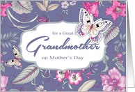 For a Great Grandmother on Mother's Day. Butterflies card