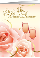 15th Wedding Anniversary Party Invitation card