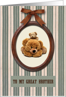 Happy Father's Day for Brother. Teddy Bears card