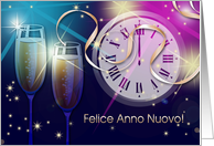 Felice Anno Nuovo . Happy New Year Card in Italian card