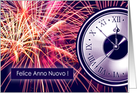 Felice Anno Nuovo, Italian New Year Card with Fireworks card