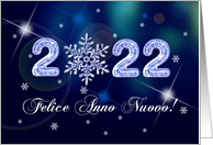 Felice Anno Nuovo 2017. New Year's 2017 Card in Italian card