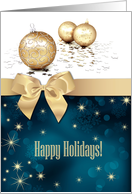 Happy Holidays Card for Customers with Christmas Ornaments card