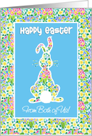 Easter Card, Cute Rabbit, from Both of Us card