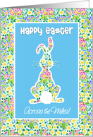 Easter Card, Cute Rabbit, Across the Miles card