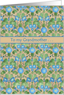 Get Well Card for Grandmother: Blue Morning Glory card