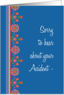 Pretty Get Well from Accident Card, Rangoli Border card