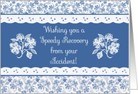 Accident Speedy Recovery Lacy Floral Card