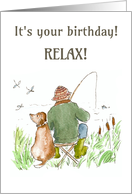 Birthday Card - Gone Fishing card