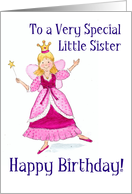 Fairy Princess Birthday Card for a Little Sister card