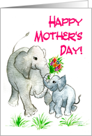 Mother's Day Card with Elephants card