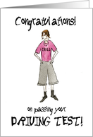 Driving Test Congratulations Card for a Boy card