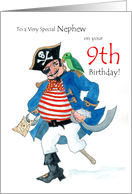 Nephew 9th Birthday Card - Pirate card