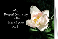 Loss of an Uncle Sympathy Card - Pink Tulip card