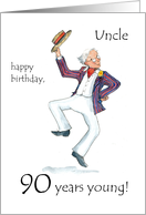90th Birthday Card for an Uncle card