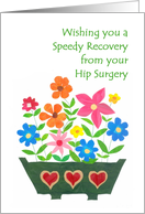 Hip Surgery Get Well Card - Window Box of Flowers card