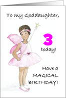 5th Birthday Fairy Card for a Little Sister card