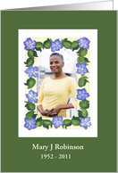 Memorial Service or Funeral Invitation Photo Card
