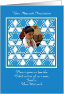 Bar Mitzvah Invitation Photocard card
