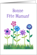 French Pink and Blue Flowers Mother's Day Card
