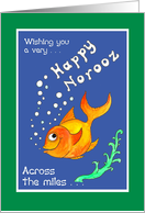 Norooz Goldfish, 'Across the Miles' Card