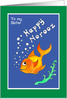 Norooz Goldfish for Sister Card