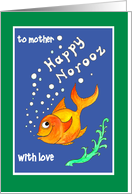 Custom Front Norooz Goldfish Card