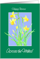 Daffodils Norooz Card, Across the Miles card
