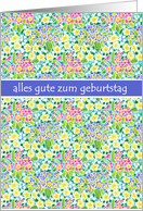 Primroses Birthday Card, German Greeting. card