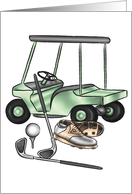 Golfer Tools of the Trade card