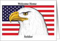 Welcome Home - Army Soldier - Blank Card