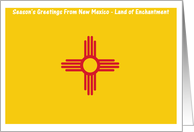 Christmas - Season's Greetings From New Mexico - Blank Card