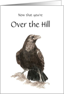 Over the Hill, Funny, Raven card