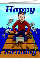 Birthday Fisherman card