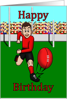 Happy birthday footballer. card