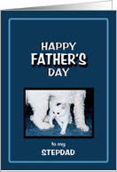 Happy Father's Day to my STEPDAD, Dog & Cat card