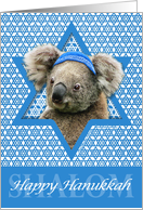 Hanukkah - Star of David - Koala card