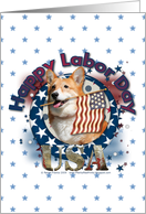 Happy Labor Day - Corgi - Owen card