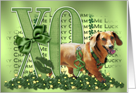 My Doxie Is Me Lucky Charm - Dachshund - Abby card