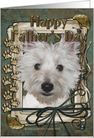Happy Father's Day - West Highland Terrier - Stone Paws card