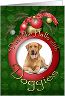 Christmas - Deck the Halls with Doggies Photo Card
