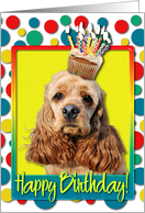 Birthday Cupcake - Cocker Spaniel card