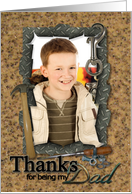 Father's Day Tools Photo Card