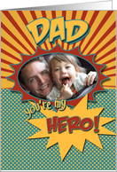 Happy Birthday Comic Book Hero Dad Photocard card